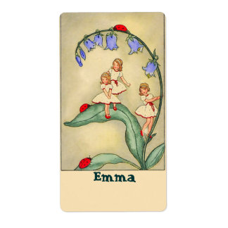 Nameplate /Bookplate Stickers with Vintage Image