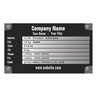 nameplate business card templates
