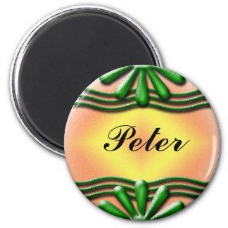 Nameplate Green Magnet