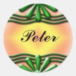 Nameplate green Sticker