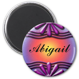 Nameplate lilac Magnet