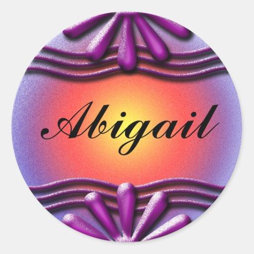 Nameplate lilac Sticker