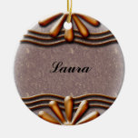 Nameplate Orange Christmas Tree Ornament