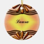 Nameplate Orange Christmas Tree Ornaments