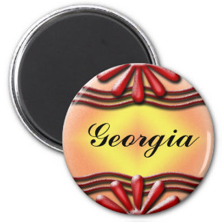 Nameplate red Magnet