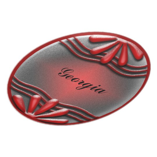 Nameplate Red Plate