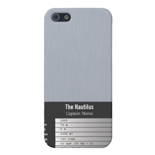 "nameplate ""The Nautilus"" Cover For iPhone 5/5S"