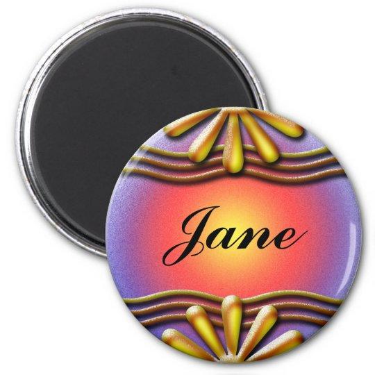 Nameplate Yellow Magnet