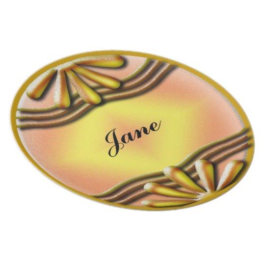 Nameplate Yellow Plate