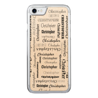 Names 11 Letters Long Carved iPhone 7 Case
