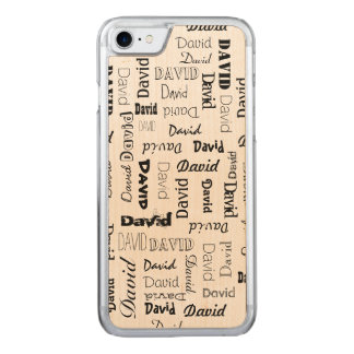 Names 5 Letters Long Carved iPhone 7 Case