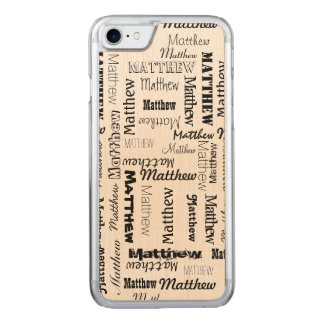 Names 7 Letters Long Carved iPhone 7 Case