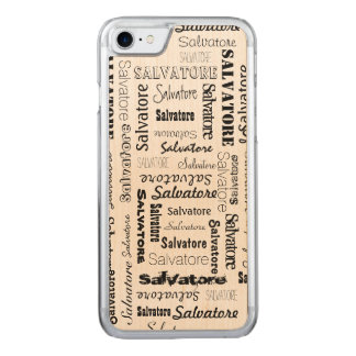 Names 9 Letters Long Carved iPhone 7 Case