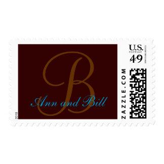 Names and Initial Monogram Stamp B