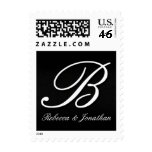 Names and Initial monogram+stamps Postage A