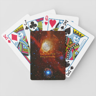 Names Celestial Bauble - SXP1062 space picture Bicycle Poker Deck