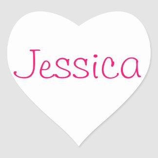 Names collection heart sticker