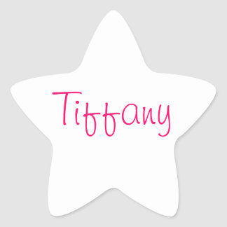 Names collection star sticker