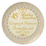 (NAMES/DATES) 45.a placa PERSONALIZADA del anivers Platos De Comidas