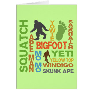 Names For Bigfoot Cards