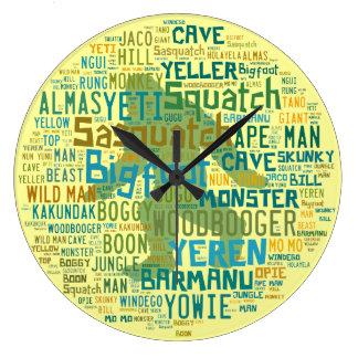 Names For Bigfoot Round Clocks