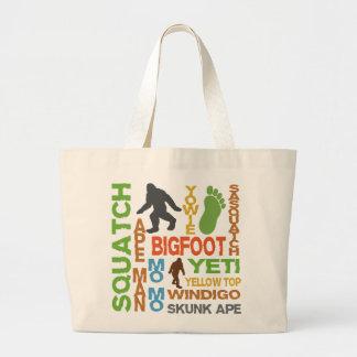 Names For Bigfoot Large Tote Bag