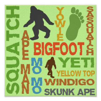 Names For Bigfoot Poster