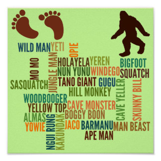 Names For Bigfoot Poster