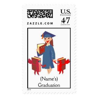 (Name's)  Graduation Postage Stamp