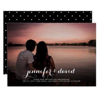 Names in Script | Save the Date Photo Card