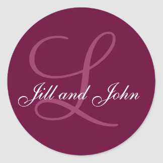 Names Initial Monogram L Wedding Favor Stickers