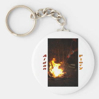 Names&Meanings - Aidan Basic Round Button Keychain