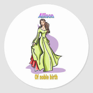 Names&Meanings - Allison Classic Round Sticker