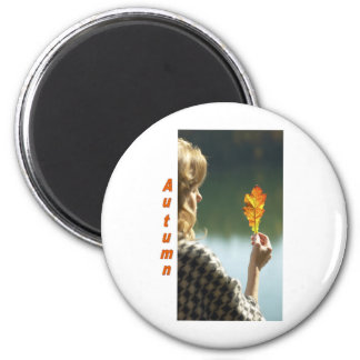 Names&Meanings- Autumn 2 Inch Round Magnet