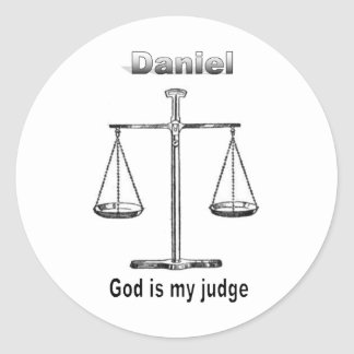 Names&Meanings - Daniel Classic Round Sticker