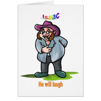 Names&Meanings - Isaac Greeting Card