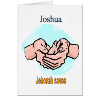 Names&Meanings - Joshua Card