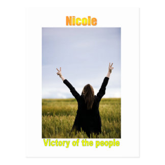 Names&Meanings - Nicole Postcard