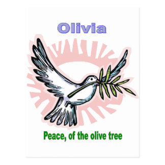 Names&Meanings - Olivia Postcard