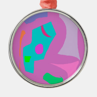Names of Animals Plankton Fade Away Pure Round Metal Christmas Ornament