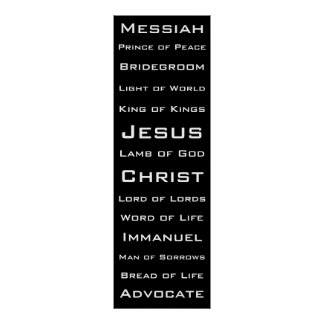Names of Christ Poster