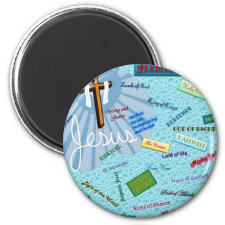 Names of God 2 Inch Round Magnet