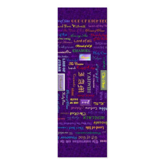 names of God bookmark Business Card Template