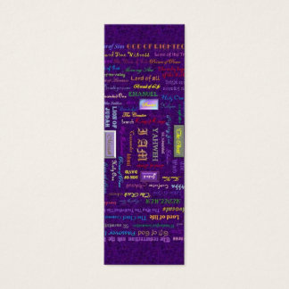 names of God bookmark Mini Business Card