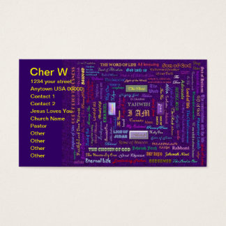 names of God business card