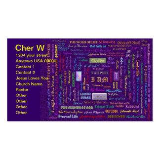 names of God business card