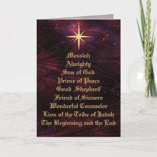 names of god christian christmas card