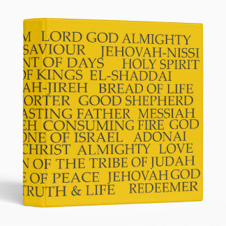 Names of God (gold) 3 Ring Binders