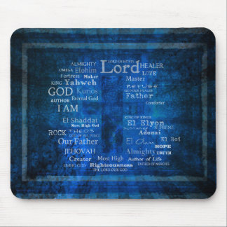 Names of God,  Holy Names listed with  image Mouse Pad