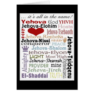 Names of God-Subway Art Card
